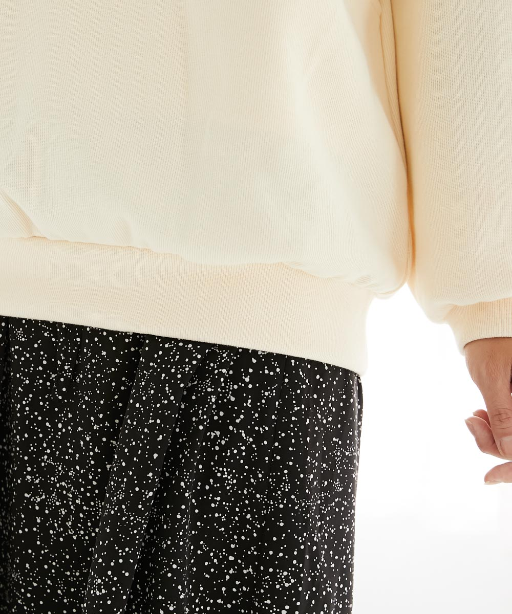 授乳服 授乳 サイドスリット トップス ネイビー ホワイト Wフェイス