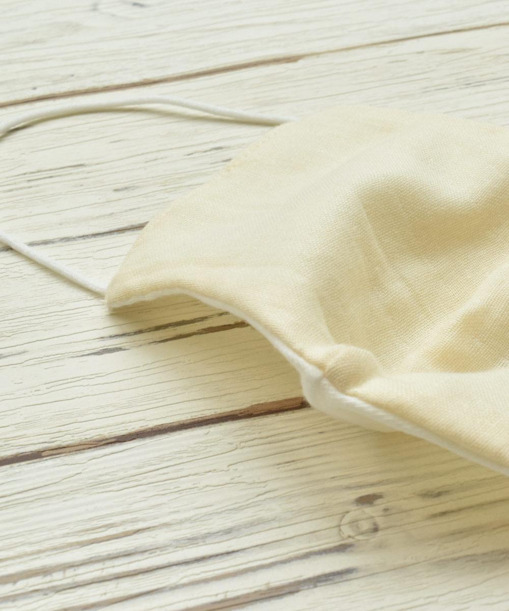 モーブラ生地 コットン 和さらし リバーシブル 日本製 マスク ホワイト アイボリー3サイズ